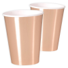 Maxi-Becher, metallic rot, 8er Pack
