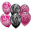 Animal Print Design, Tierfell, Ballons im 6er Pack