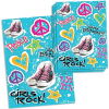 Girls Rock Sticker, 4 tolle Stickerbögen 11,5x15cm, je 14 Aufkleber