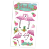 Glitzersticker Flamingo, 1 Karte