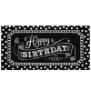 Happy Birthday Banner XL - Black & White, 165cm, Partydeko