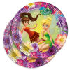 Kuchenteller für Feenparty im Fairies Magic-Design, 8er Pack, 23 cm