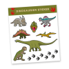 Stickerbogen \´´Dinosaurier\´´ mit 8 Stickern
