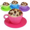Teetasse Muffin-Backform Silikon