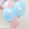 \´´Tiny Feet\´´ Babyparty , Ballons, 8er Pack, rosa und hellblau