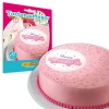 Tortenauflage \´´Happy Birthday\´´ in rosa, Oblate, 12cm