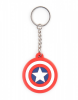 Marvel Captain America Shield Logo Rubber Keychain