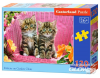 Kittens on Garden Chair,Puzzle 120 Teile