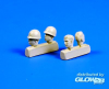 US WWII soldiers head (4 pcs)