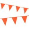 Wimpelkette in Orange, 10 m