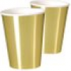 Maxi-Becher, metallic gold, 8er Pack