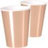 Maxi-Becher, metallic rose-gold, 8er Pack