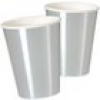 Maxi-Becher, metallic silber, 8er Pack