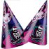 Monster High Partyhüte im 6er Pack, mit Gummiband, in Lila/Pink, Pappe