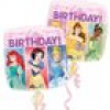 "Quadratischer Folienballon Disney Prinzessinnen ""Happy Birthday"", 32cm x 32cm"