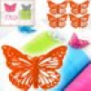 Schmetterlings-Klammern, 4er Pack, Orange, aus Metall, Partydeko, 3,5x3cm