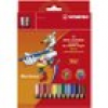 Buntstift Stabilo Trio dick - 12er-Set mit Spitzer