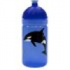 Isybe Trinkflasche blau Orca 0,5 l mit sorgers Logo